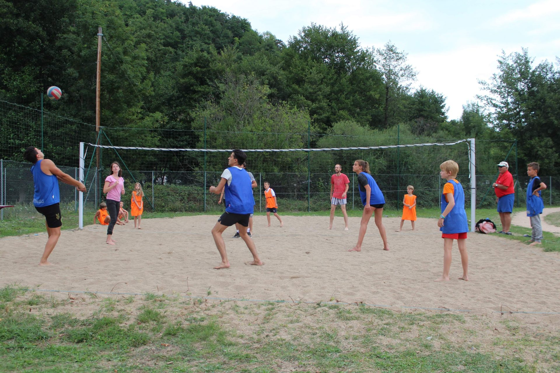 volley au camping les moulettes